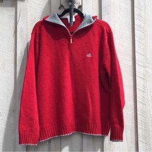 Vintage Adidas 1/4 Zip Logo Sweater